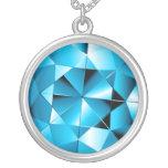 Aquamarine Gemstone Sterling Silver Necklace