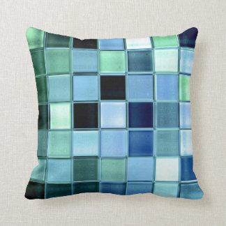 AquaMarine glass mosaic custom home decor Pillow