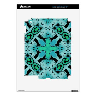 Aquamarine Green Abstract Hip chic pattern. Decal For The iPad 2
