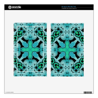 Aquamarine Green Abstract Hip chic pattern. Skin For Kindle Fire