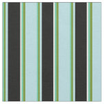 [ Thumbnail: Aquamarine, Green, Powder Blue, Black & White Fabric ]