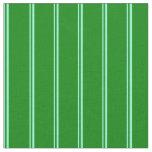 [ Thumbnail: Aquamarine & Green Striped/Lined Pattern Fabric ]