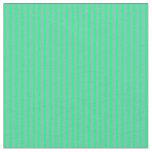 [ Thumbnail: Aquamarine & Green Stripes/Lines Pattern Fabric ]