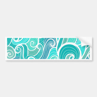 aquamarine,green,turquoise,blue,white,mint,waves,t bumper sticker
