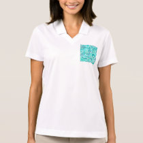 aquamarine,green,turquoise,blue,white,mint,waves,t polo shirt
