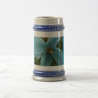 Aquamarine himalayan poppy flower steiner mug