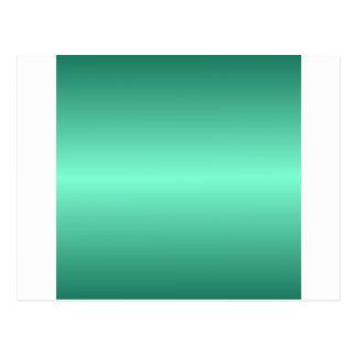 Aquamarine horizontal y pendiente verde de tarjetas postales