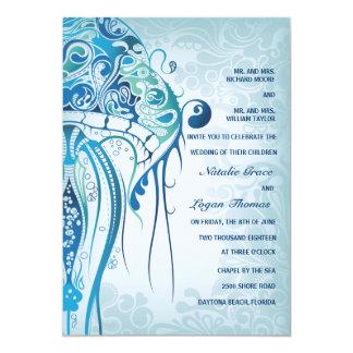 "Aquamarine Jellyfish Invitation 5"" X 7"" Invitation Card"