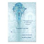 Aquamarine Jellyfish Response Card Invitations
