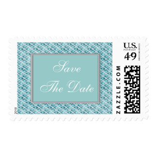 Aquamarine Jewels Frame Save The Date Stamps