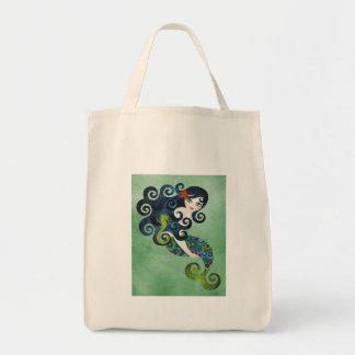 aquamarine, la sirena adolescente bolsa tela para la compra