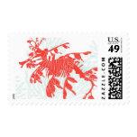 Aquamarine Leafy Sea Dragon by Ceci New York Stamps