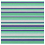 [ Thumbnail: Aquamarine, Light Gray, Midnight Blue & Sea Green Fabric ]