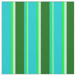 [ Thumbnail: Aquamarine, Lime, Turquoise, Green & Mint Cream Fabric ]