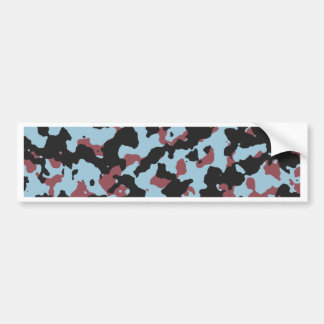 Aquamarine Marsala Camouflafe Pattern Bumper Sticker
