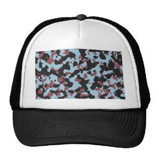 Aquamarine Marsala Camouflafe Pattern Trucker Hat