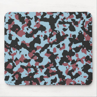 Aquamarine Marsala Camouflage Pattern Mouse Pad