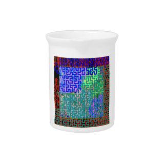 Aquamarine Maze Drink Pitcher