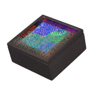 Aquamarine Maze Premium Keepsake Box