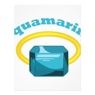 Aquamarine Membretes Personalizados