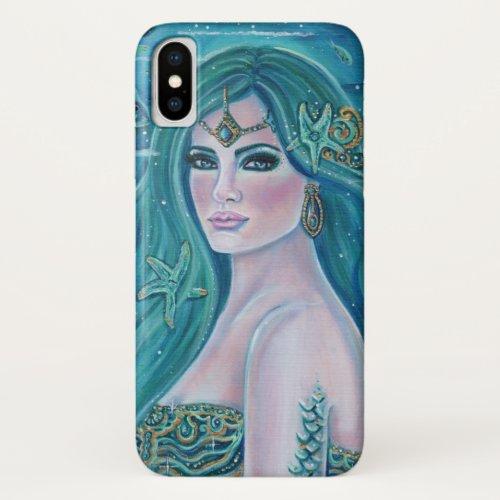 Aquamarine mermaid art by Renee Lavoie Phone Case
