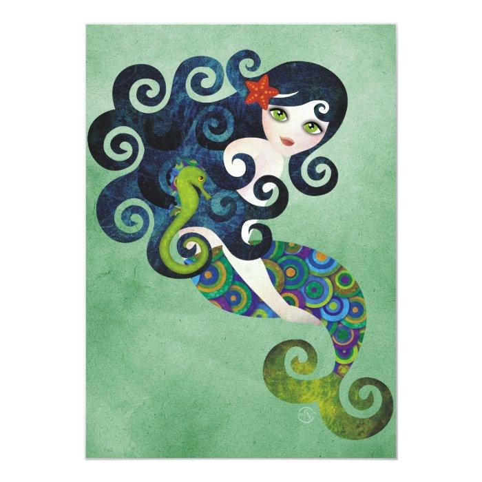 Aquamarine Mermaid Invitation