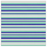 [ Thumbnail: Aquamarine, Mint Cream & Dark Blue Lines Fabric ]