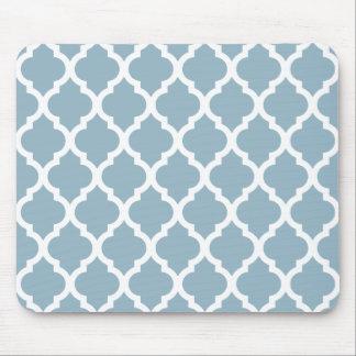 Aquamarine Moroccan Tile Trellis Mouse Pad