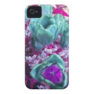 Aquamarine N Purple Tulips Blackberry Bold case