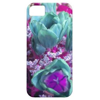 Aquamarine N Purple Tulips iPhone 5 case