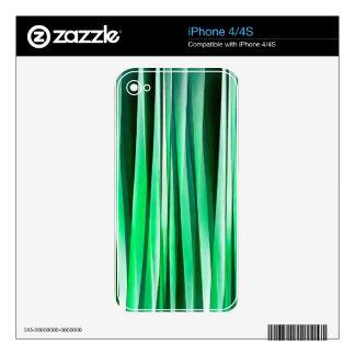 Aquamarine Ocean Stripy Pattern Skin For iPhone 4