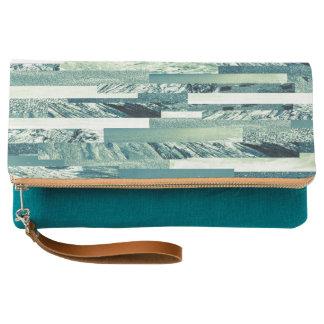 Aquamarine ocean theme pattern clutch