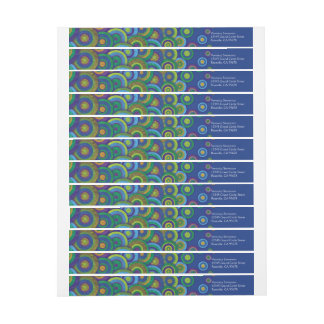 Aquamarine Pattern Wraparound Address Labels