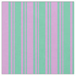 [ Thumbnail: Aquamarine & Plum Colored Pattern Fabric ]