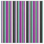 [ Thumbnail: Aquamarine, Purple, White, and Black Colored Fabric ]