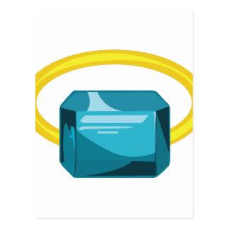 Aquamarine Ring Postcard