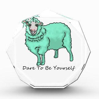 Aquamarine Sheep Acrylic Award