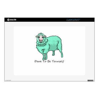 Aquamarine Sheep Laptop Decals