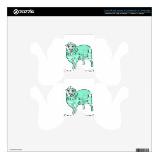 Aquamarine Sheep PS3 Controller Decals