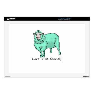 Aquamarine Sheep Skins For Laptops