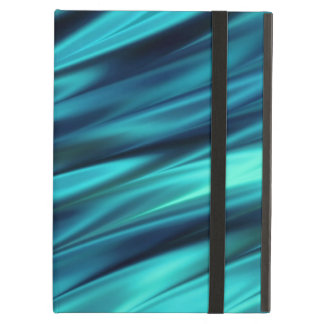 Aquamarine silky waves iPad air covers