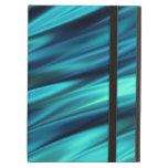 Aquamarine silky waves iPad covers