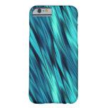 Aquamarine silky waves iPhone 6 case