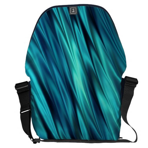 Aquamarine silky waves messenger bags