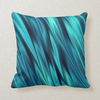 Aquamarine silky waves pillow