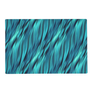 Aquamarine silky waves placemat