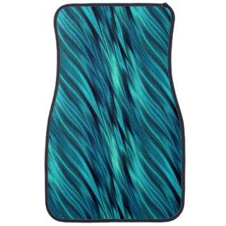 Aquamarine silky waves floor mat