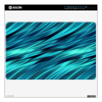 Aquamarine soft waves decal for MacBook