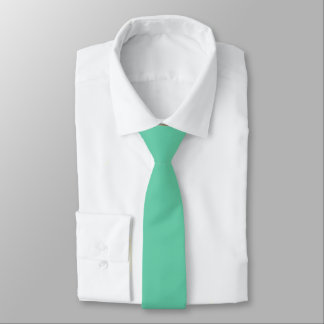 Aquamarine Solid Color Necktie