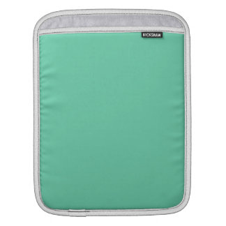 Aquamarine Solid Color Sleeve For iPads